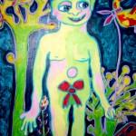 (Peinture Enfant) L'enfant seul