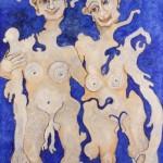 (Peinture Outremer) Grand Couple(lo)