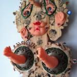(Sculpture Bois) Enfance brisée 2 (detail)