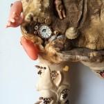 (Sculpture Bois) Oiseau casse-pierre (detail)